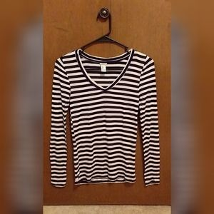Forever 21 Striped Long-Sleeved Tee